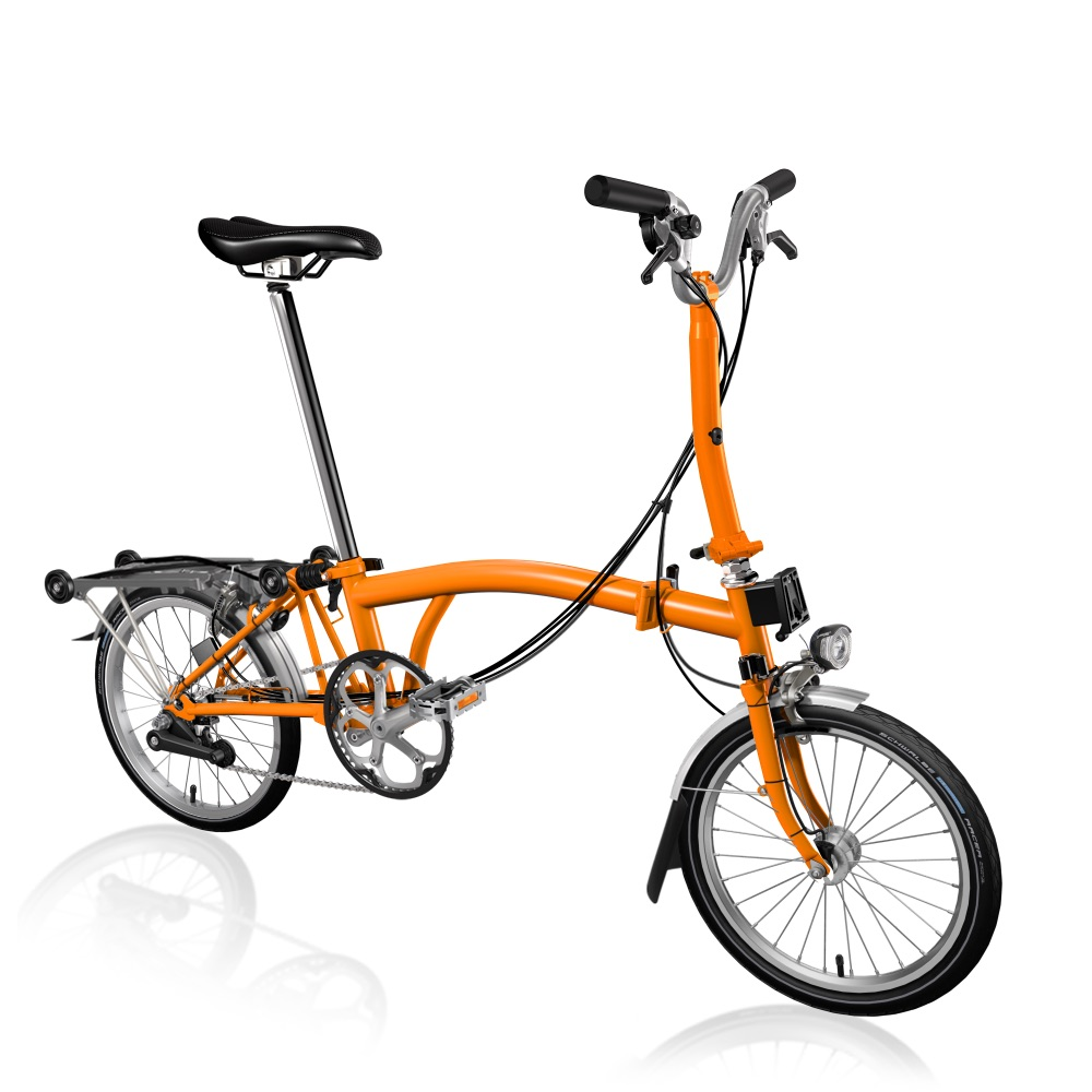 M6RD Brompton Faltrad in Orange mit 6 Gängen