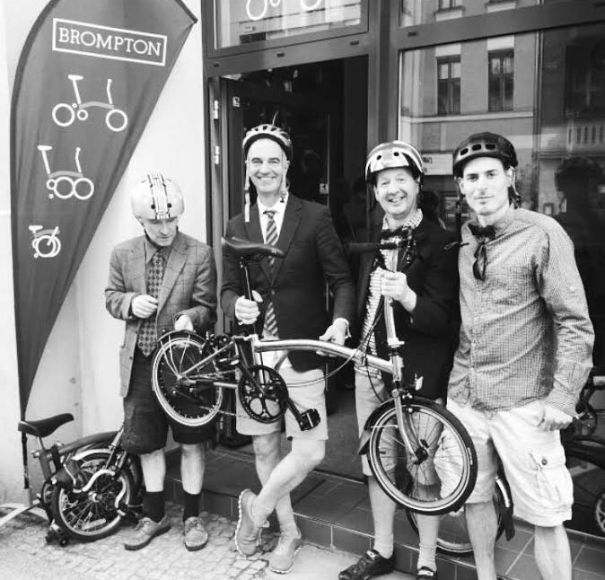 unser Team von The Urban Mobility Store Brompton Bicycle Faltrad Berlin