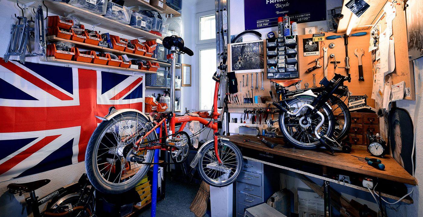 Werkstatt von The Urban Mobilitly Store Bropton Bicycle Berlin