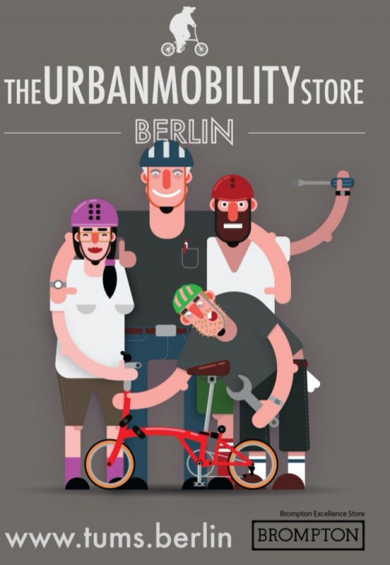 Das Team von The Urban Mobility Store Brompton Bicycle Berlin
